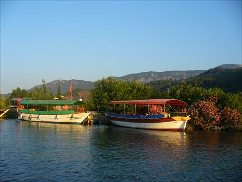 Boats on the Dalyan river