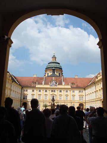 Portal into Melk Abbey