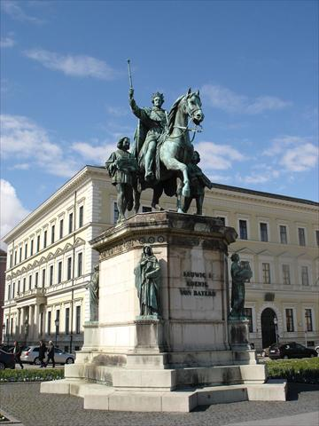 King Ludwig I. Statue at Odeon...