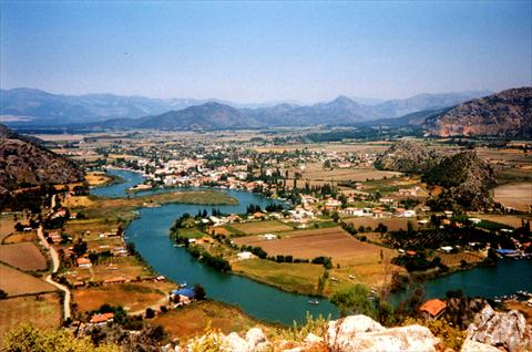 View onto Dalyan