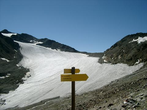 Up the Niederjoch Glacier