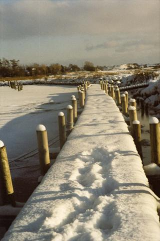 Path covered with snow