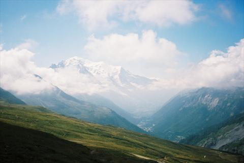 View to the Mont Blanc