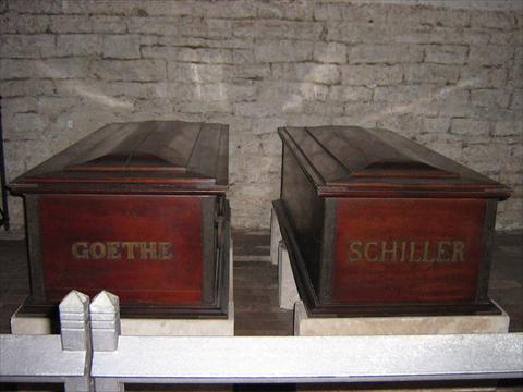 Goethe and Schiller coffin in ...