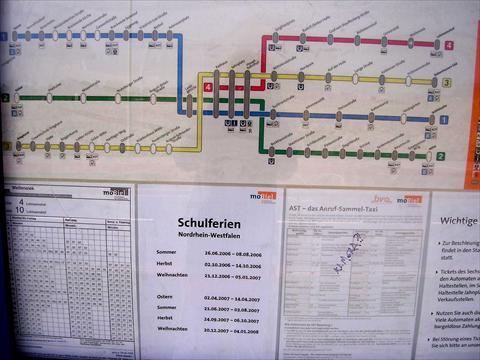 Timetable for the subway