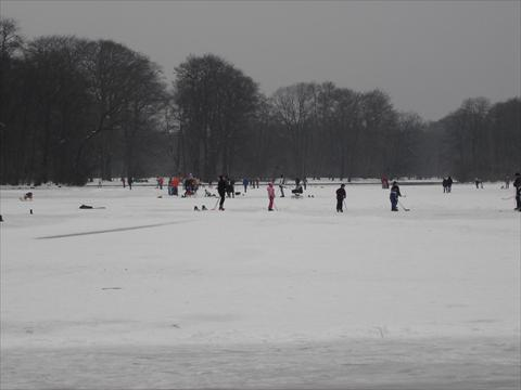 Sports on a frozen lake
