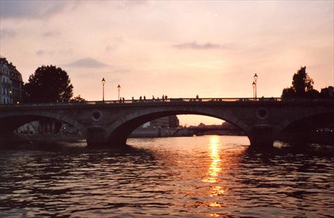 River Seine at sunset