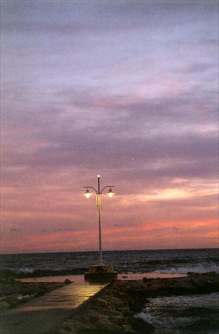Sunset with a street lamp