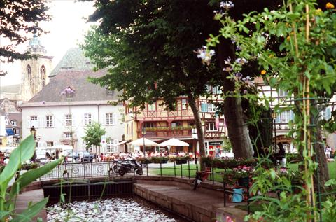 River through town