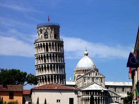 The leaning tower