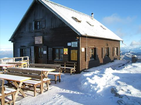 Restaurant in the snow
