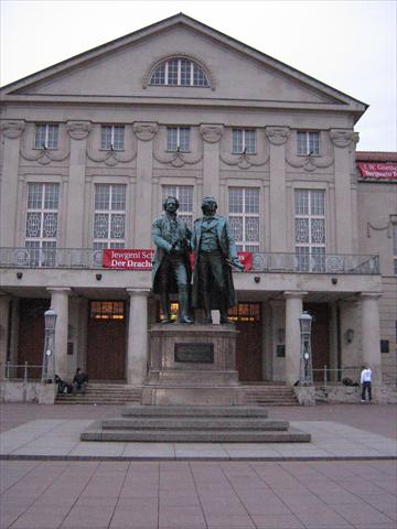 Schiller and Goethe statue