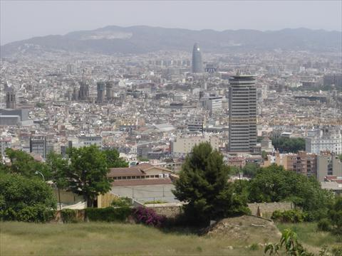 view above Barcelona