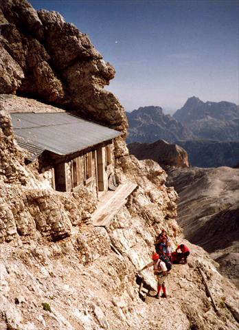 Hut in the mountains