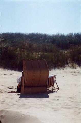 Beach chair in the dunes