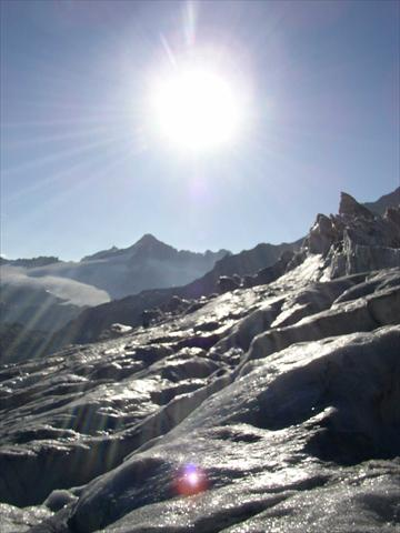 Sun on the glacier